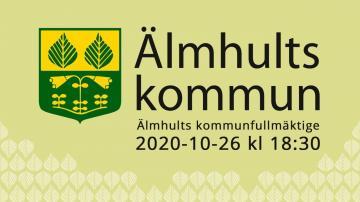 Älmhults kommunfullmäktige, 26 oktober 2020